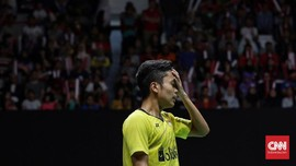 Anthony Ginting Tersingkir dari Kejuaraan Bulutangkis Asia