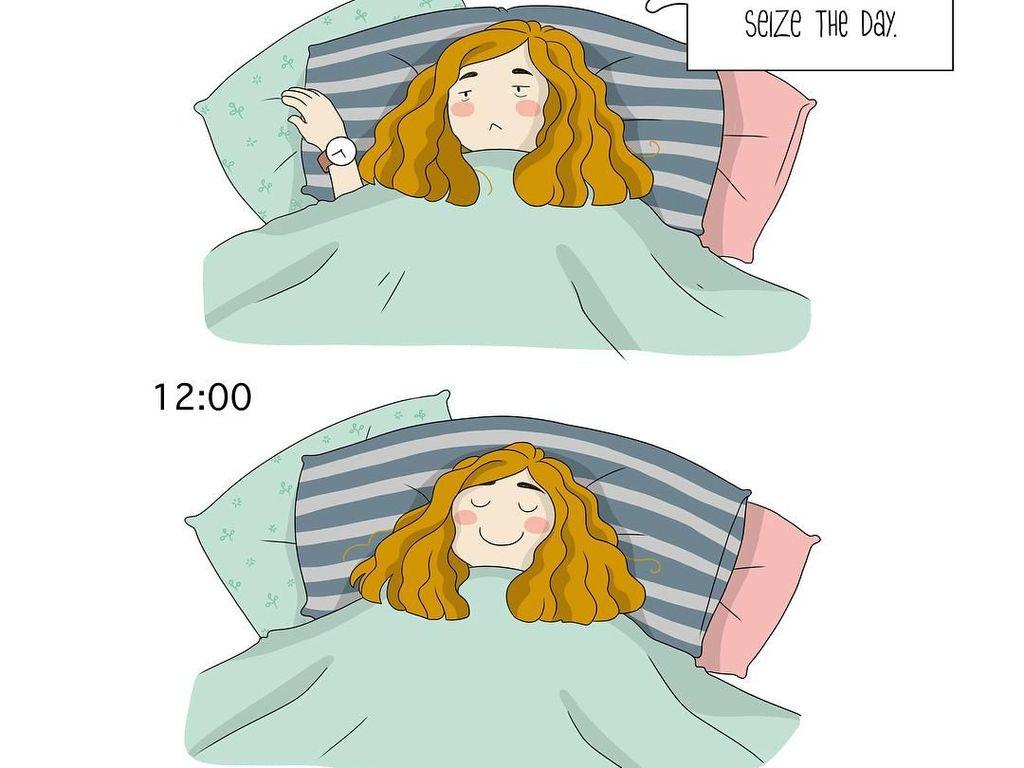 Bikin Senyum! 10 Ilustrasi Ini Gambarkan Kebiasaan Wanita Habiskan Waktu Libur