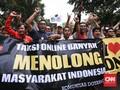 FOTO: Sopir Taksi Online Kembali Tolak Aturan Pemerintah