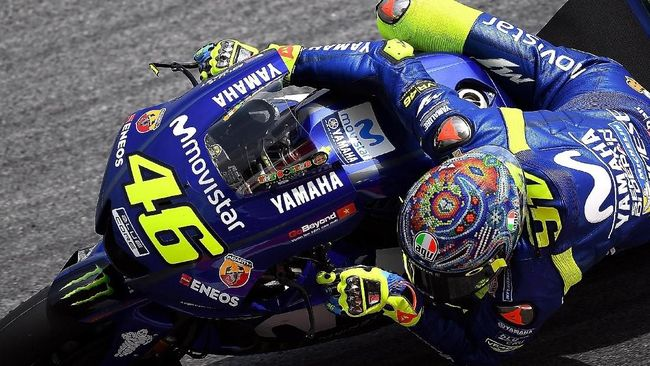 Valentino Rossi Tertua di MotoGP 2018, Alex Rins Termuda