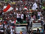 Ratusan Driver Taksi Online Long march ke Kemenhub