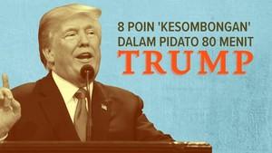 INFOGRAFIS: 8 Poin 'Kesombongan' dalam Pidato 80 Menit Trump