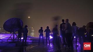 Pengunjung Kalah Ramai dari GMT, Gerhana Bulan Tetap Spesial