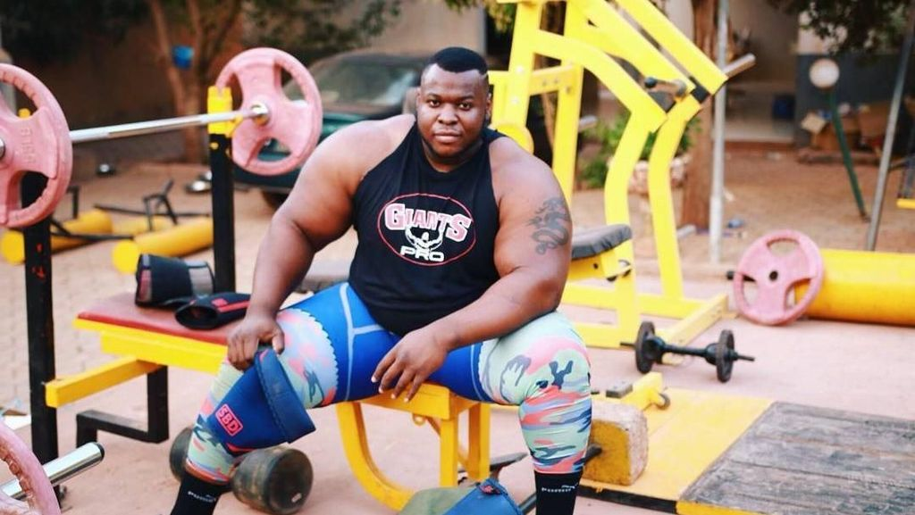 Foto: Iron Biby, Calon Pria Terkuat di Dunia dari Burkina Faso
