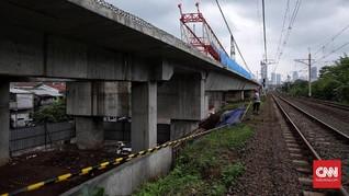 Crane Jatinegara Ambruk, Hutama Karya Setop Pengerjaan Proyek