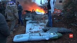 VIDEO: Pemberontak Suriah Tembak Jatuh Pesawat Perang Rusia