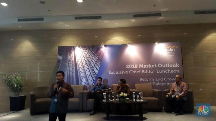 Kalangan ekonom memprediski pertumbuhan ekonomi Indonesia pada 2018 bisa mencapai 5,3%.