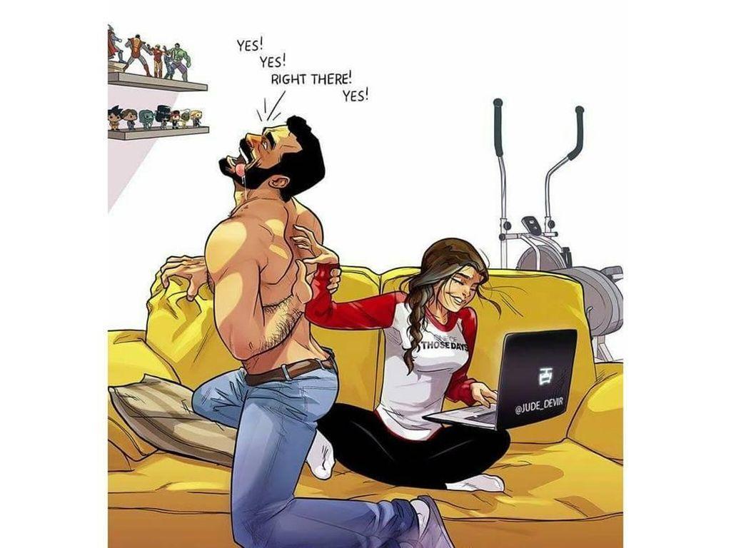 10 Ilustrasi Kocak Realita Kehidupan Pasangan Sudah Menikah Ini Bikin Baper