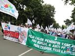 Buruh Demonstrasi di Istana Meminta Harga Beras Turun