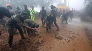 Tak Ditemukan Korban, Evakuasi Longsor Puncak Dihentikan