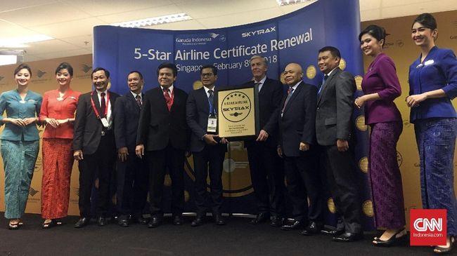 Garuda Indonesia Berharap Untung dari Status Bintang Lima