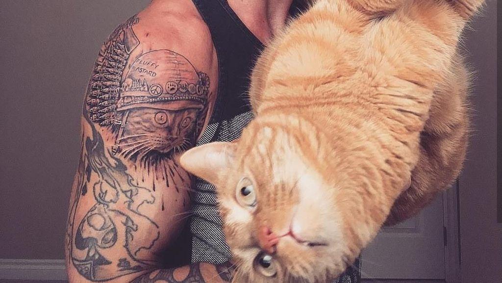 Potret Pria Kekar yang Populer Karena Sering Olahraga Bareng Kucing Imut