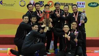 Rapor Tim Bulutangkis Putra di Kejuaraan Asia Beregu