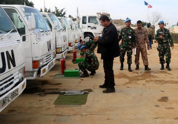 Tim UNIFIL Periksa Perlengkapan Operasional Pasukan Garuda