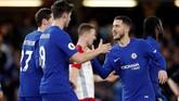 Eden Hazard mencetak gol penutup kemenangan Chelsea 3-0 atas West Bromwich pada menit ke-71. (EUTERS/Eddie Keogh)