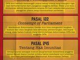 Tiga Pasal Kontroversial UU MD3