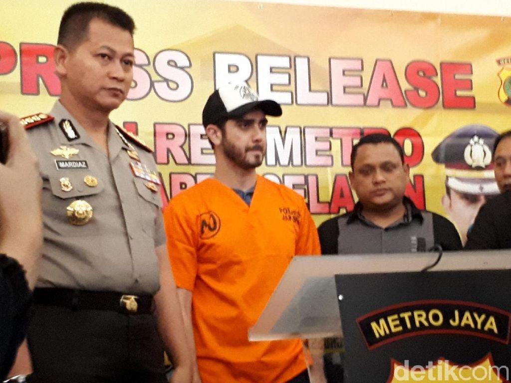 Fachri Albar saat ditemui di Polres Jakarta Selatan pada Rabu (14/2).