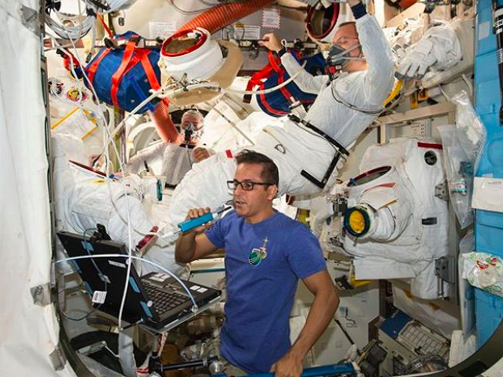 ISS dapat menampung sampai 6 astronot sekali waktu. Foto: Instagram