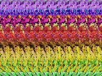 Stereogram adalah ilusi optik yang menyembunyikan sebuah gambar tiga dimensi dan hanya dapat dilihat dengan metode tertentu. Bisa temukan gambar yang tersembunyi dari stereogram yang satu ini? Untuk menemukannya, kamu harus mempraktekan sejumlah cara. (Foto: Internet)