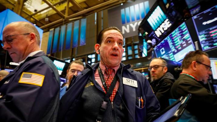 Gaduh Politik Buat Damai Dagang Tak Terasa di Wall Street