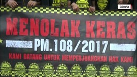 Demonstrasi Pengemudi Taksi Online