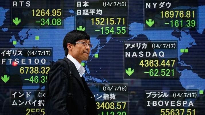 Bursa saham utama kawasan Asia ditutup menguat pada perdagangan hari ini.