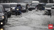 Hujan Deras, 100 RW di 36 Kelurahan di Jakarta Tergenang