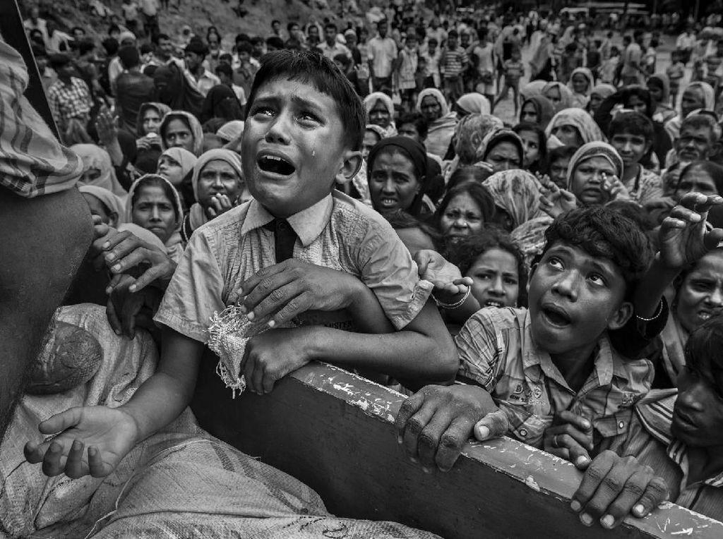 Pengungsi Rohingya di Bangladesh - karya Kevin Frayer/Getty Images. Foto: World Press Photo/The Washington Post