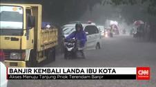 Hujan Sejak Pagi, Jalan Akses Menuju Tanjung Priok Tergenang