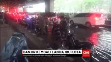 Hujan Deras Sejak Pagi, Jakarta Banjir Lagi