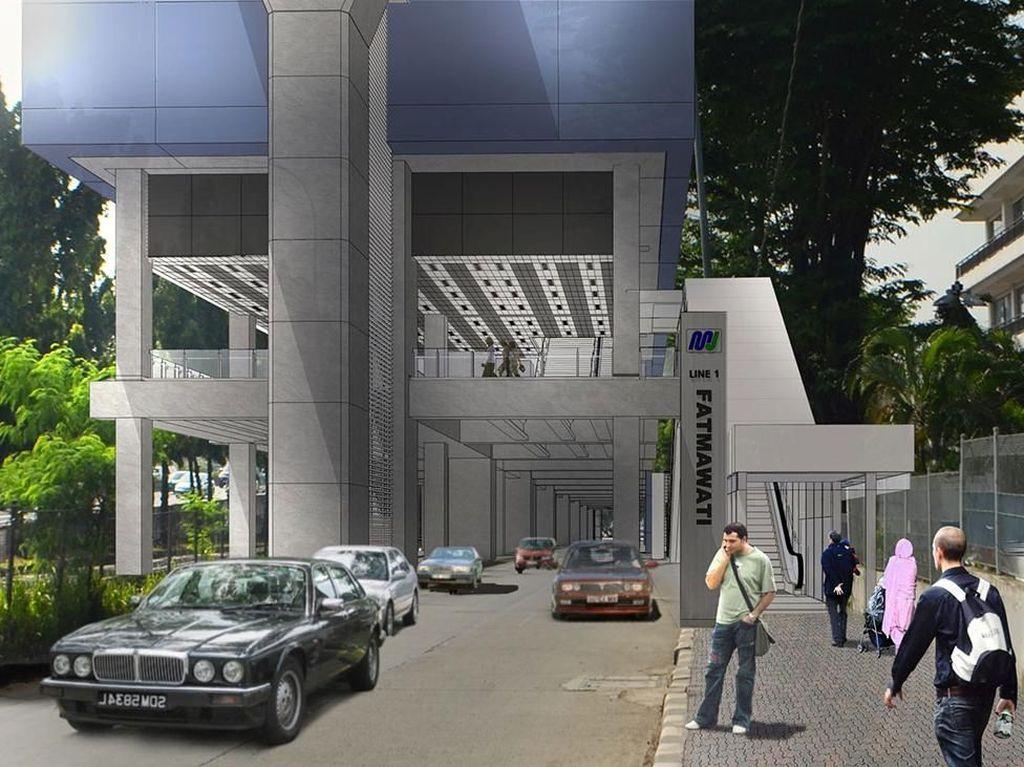 Ini adalah desain stasiun Fatmawati MRT Jakarta saat sudah jadi nanti. Foto: Dok.MRT