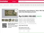 Ada Pelapak Jual Uang Kuno Soekarno Rp 15 Miliar