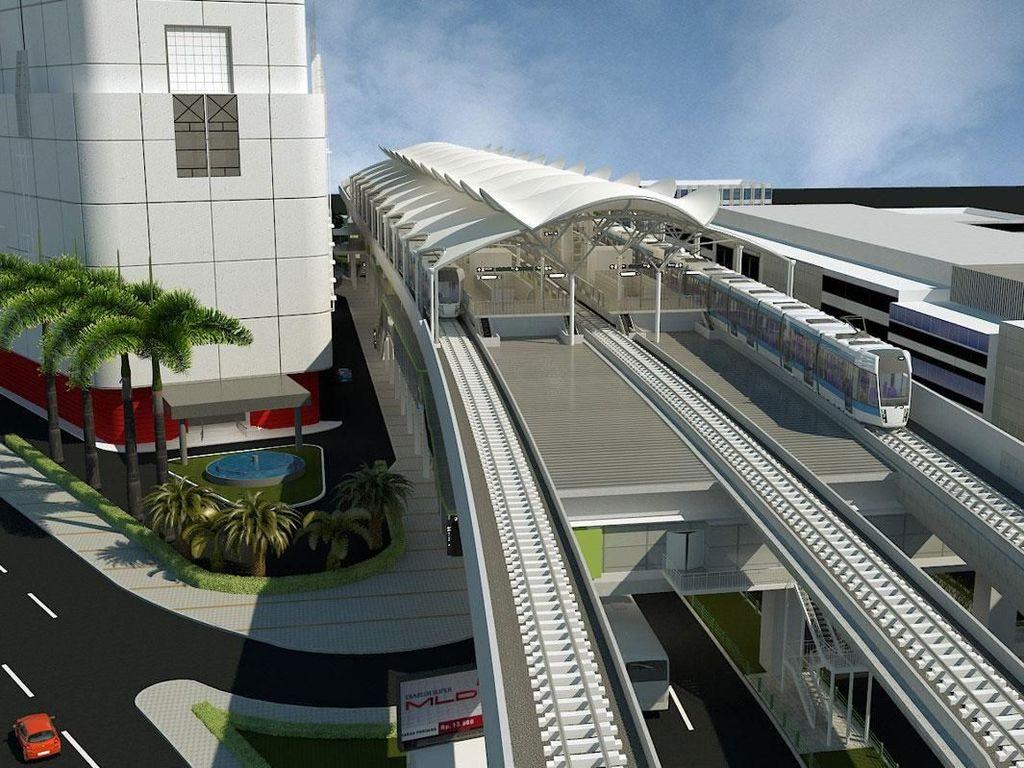 Ini adalah desain stasiun Blok M MRT Jakarta saat sudah jadi nanti. Foto: Dok.MRT