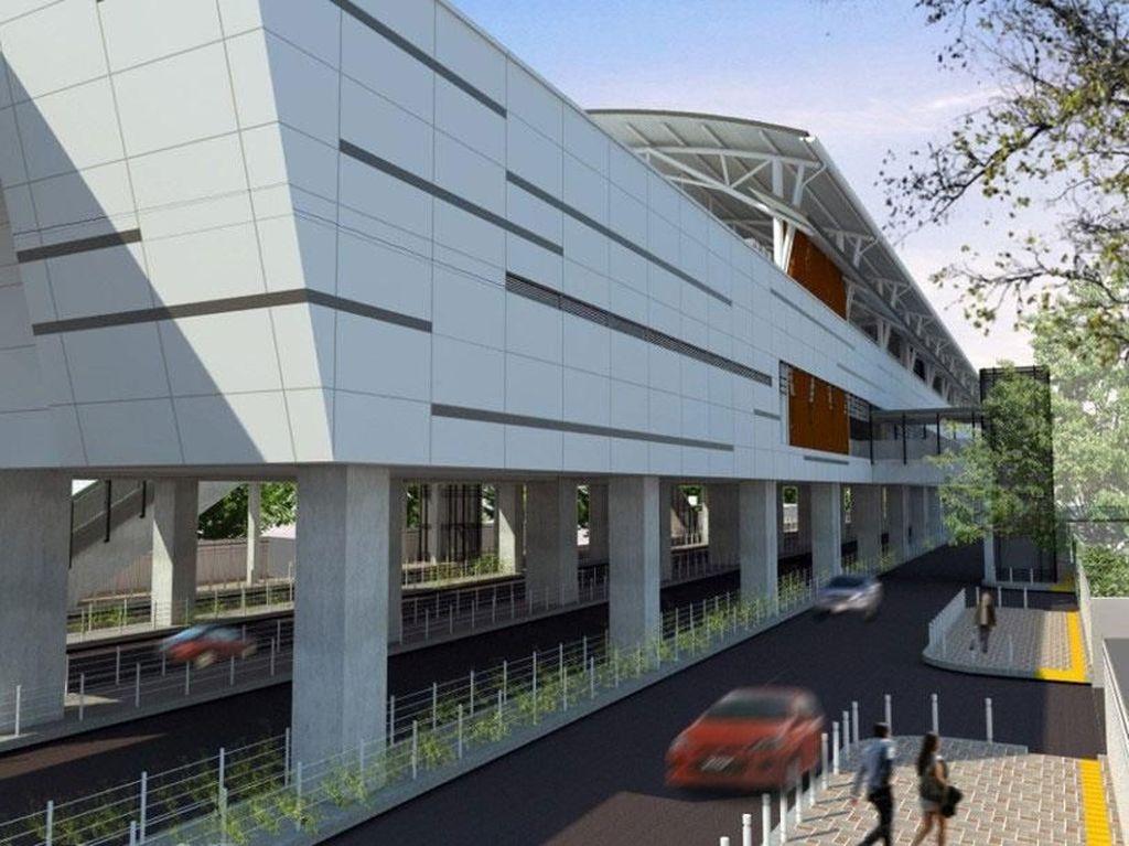Ini adalah desain stasiun Sisingamangaraja MRT Jakarta saat sudah jadi nanti. Foto: Dok.MRT