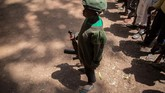 Sudan Selatan merdeka dari Sudan pada 2011, sebagai bagian dari kesepakatan 2005 yang mengakhiri perang sipil terlama di Afrika. (AFP PHOTO/Stefanie Glinski)