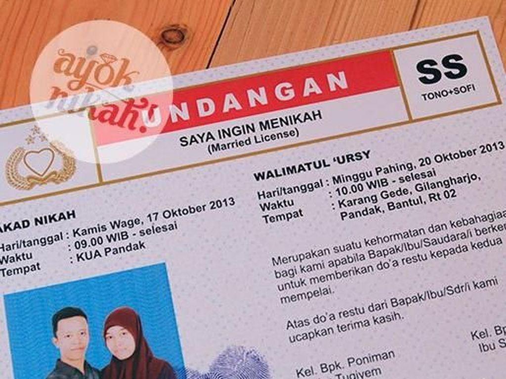 8 Undangan Pernikahan Unik yang Hanya Ada di Indonesia