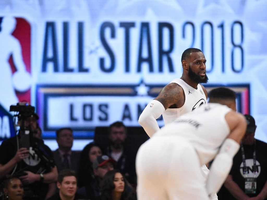 Foto: Seru, LeBron cs Kalahkan Curry dkk di NBA All Star 2018