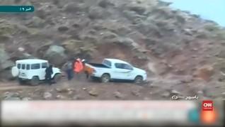 VIDEO:  Terjalnya Lokasi Kecelakaan Pesawat Iran
