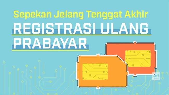 Sepekan Jelang Tenggat Akhir Registrasi Ulang SIM Prabayar