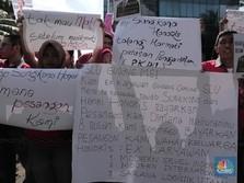 Eks Karyawan 7-Eleven Demo Tuntut Pesangon yang Belum Dibayar
