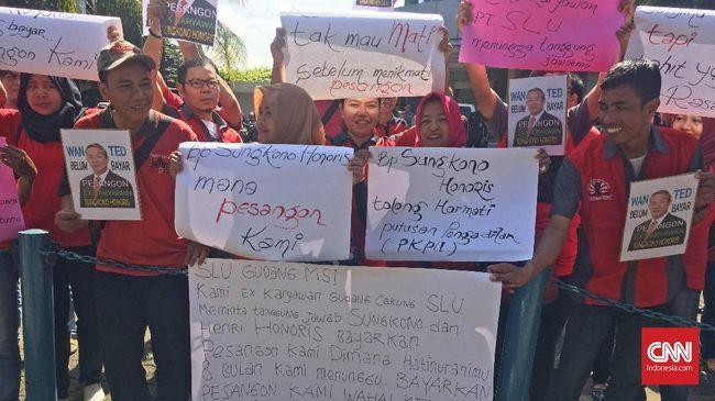 Pesangon Belum Dibayar, Eks Karyawan Sevel Kembali Demo