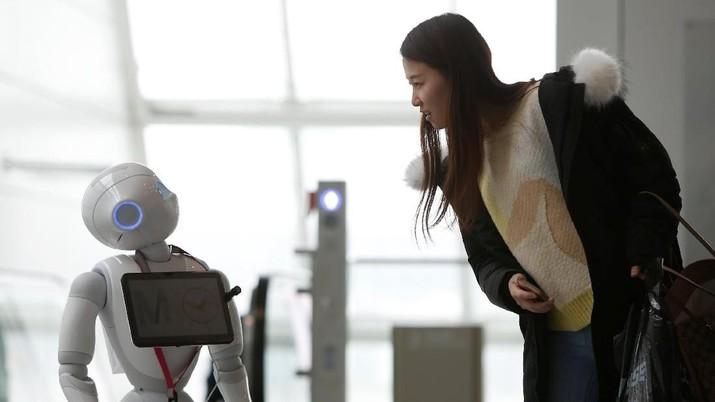 Deretan robot yang disiapkan untuk menggantikan pekerjaan manusia.