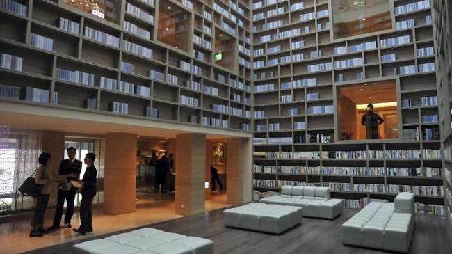 Gaia Hotel, salah satu tempat penginapan di Taipei yang memiliki konsep halal. (AFP PHOTO / Mandy CHENG)