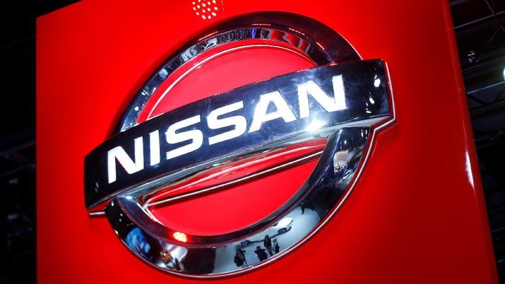 FILE PHOTO: The Nissan logo is seen at the company's display area during the North American International Auto Show in Detroit, Michigan, U.S., January 10, 2017.  REUTERS/Mark Blinch/File Photo
