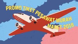 INFOGRAFIS: Promo Tiket Pesawat Murah Maret 2018