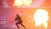 Seperti biasanya, Kendrick Lamar tampil penuh energi di Brit Awards 2018. Dalam ajang ini, Lamar memenangkan International Male Solo Artist. (REUTERS/Hannah McKay)