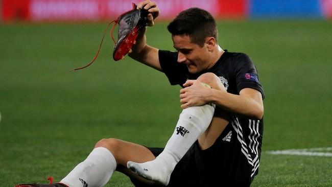 Ander Herrera yang sempat mengalami cedera di bulan Februari tidak dilirik oleh Timnas Spanyol. Herrera kalah bersaing dengan Sergio Busquets, Koke, dan Thiago Alcantara. (REUTERS/Jon Nazca)