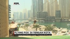 Sensasi Wahana Flying Fox di Pusat Kota
