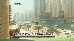 Sensasi Wahana Flying Fox di Pusat Kota