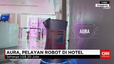 Aura, Pelayan Robot di Hotel